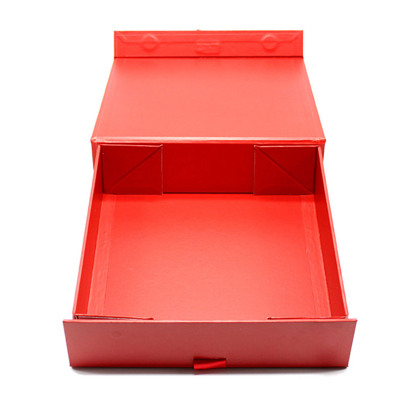 Cosmetic Cardboard Paper Gift Chinese New Year Red Box