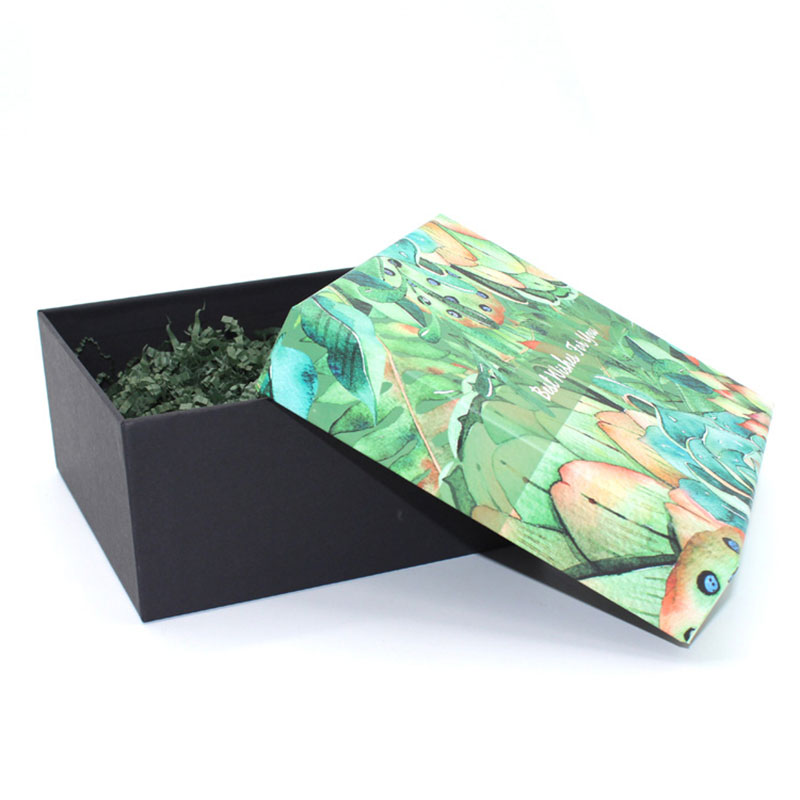 Cosmetic Top and Bottom Lid Colour Paper Thanksgiving Gift Box