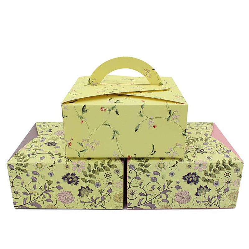 Factory Custom Design Paper Portable Birthday Gift Box