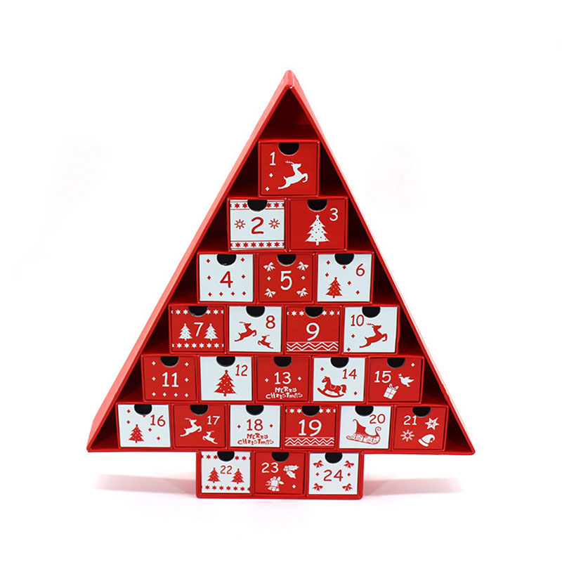 High Quality Cardboard Paper Diy Christmas Advent Calendar Box