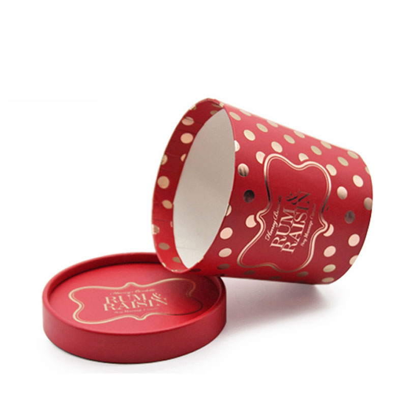 Luxury Cylinger Red Paper Favors Chinese New Year Candy Box