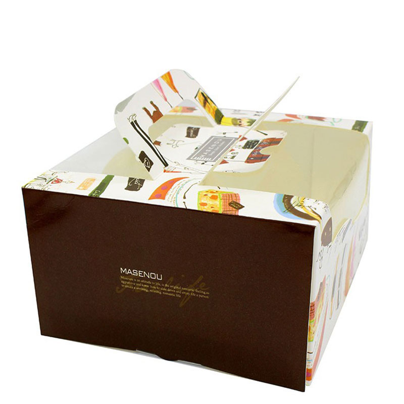 Handmade Custom Large Transparent Birthday Cake Box Packaging