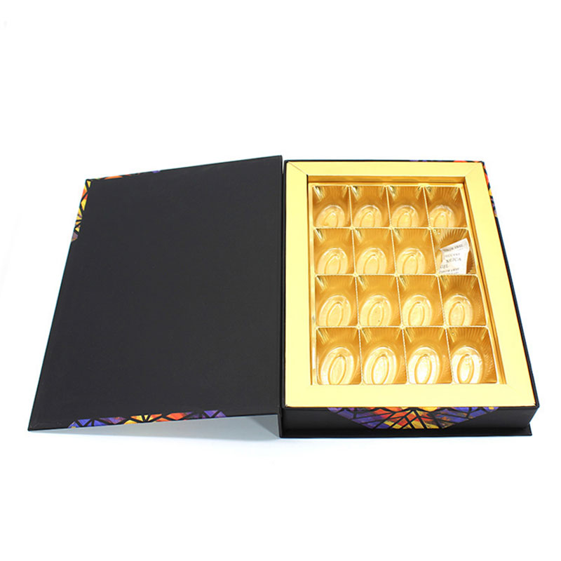 High Quality Black Magnetic Fancy Paper Chocolate Gift Box