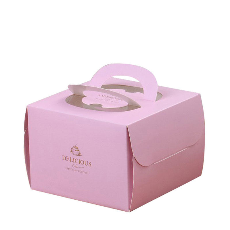 Luxury with Portable window Paper Single Cupcake Box