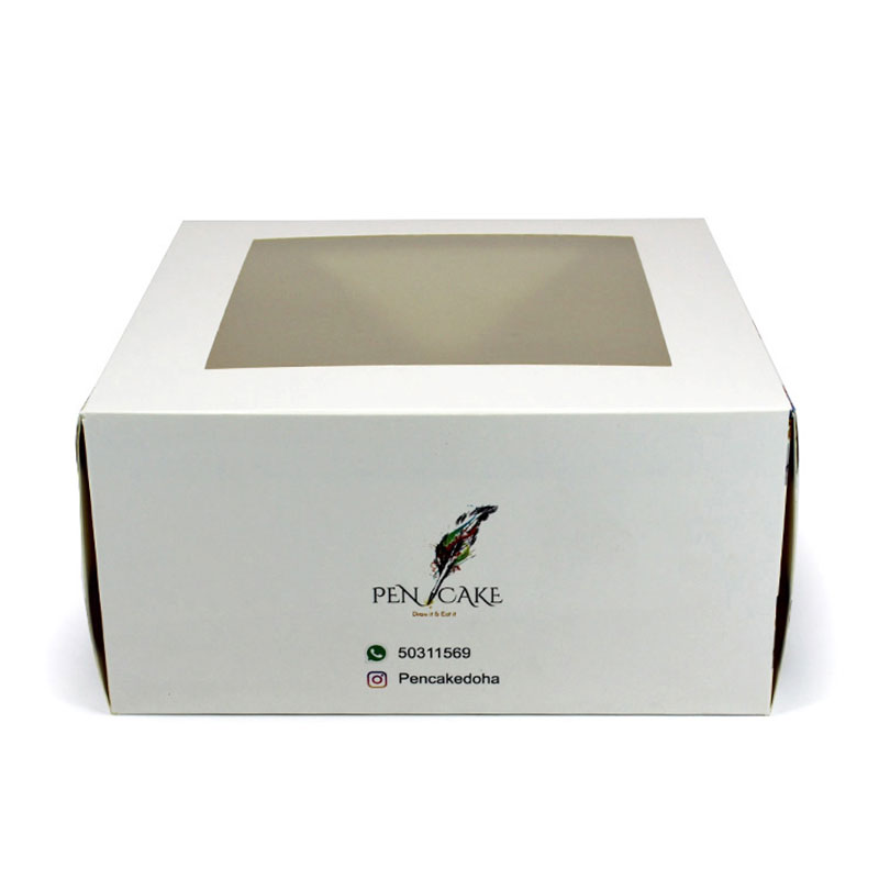 New Eco-Friendly Single Favors Wedding Clear Paper Cake Box
