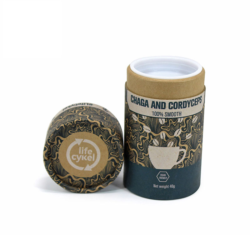 High Quality Custom Design Cylinder Paper Coffee Packing Box