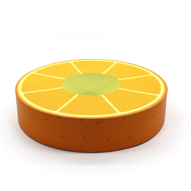 Luxury Round Box with Top and Bottom Lid Cookie Paper Box