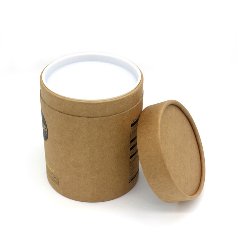 Custom Design Kraft Paper Cylinder Tea Sample Packaging