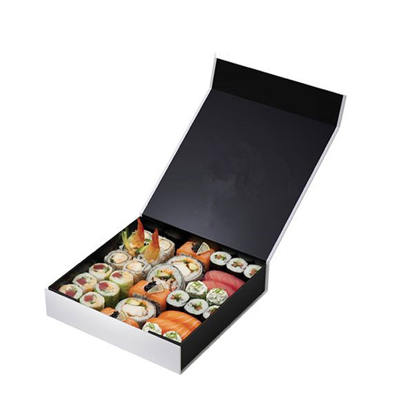 Custom High Quality Big Black Paper Japanese Sushi Box