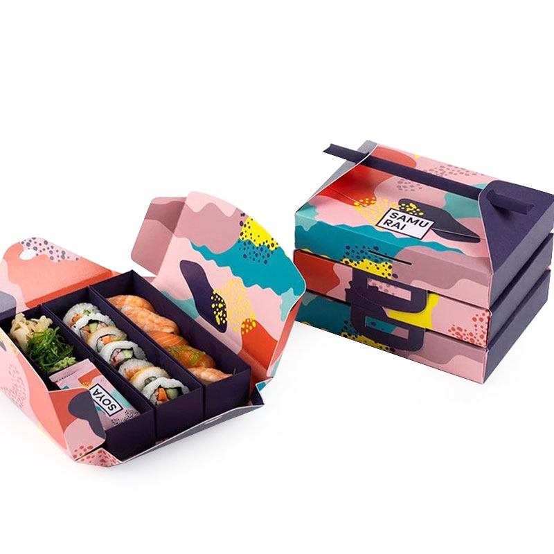 Factory Price Food Grade Paper Portable Sushi Takeaway Box