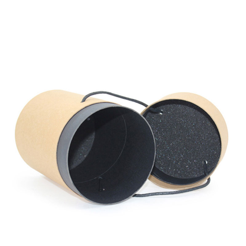 Luxury Kraft Paper with Lid Round Cylinder Food Tube Packaging