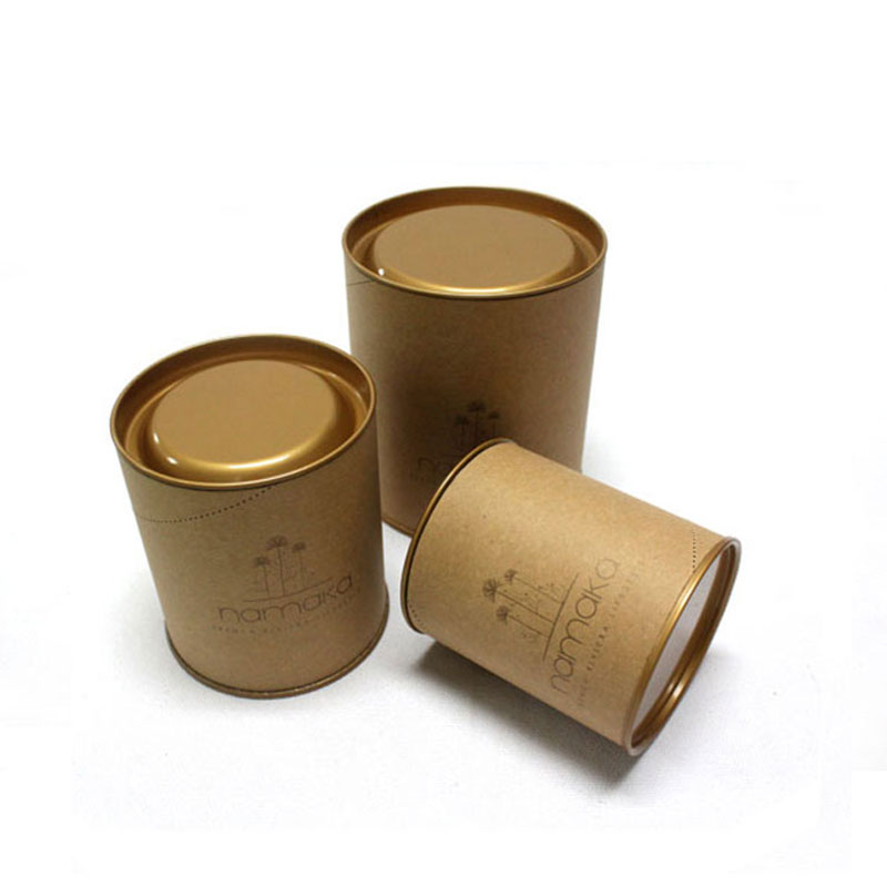 New Products Custom Kraft Paper Tea Cylinder Packaging Box