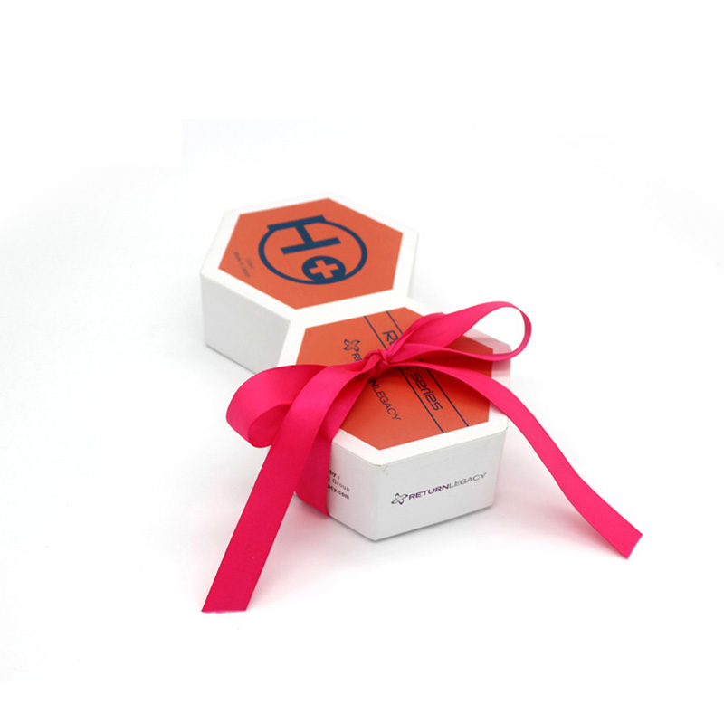 Luxury Eco-Friendly with Ribbon Paper Skincare Packaging Box