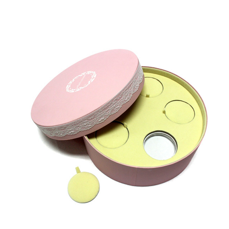 Custom Beauty Eco-Friendly Round Paper Luxury Cosmetic Box