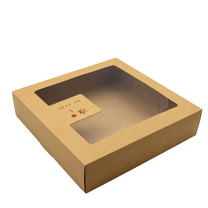 New Design Kraft Paper Big with Pvc Window Soap Paper Box