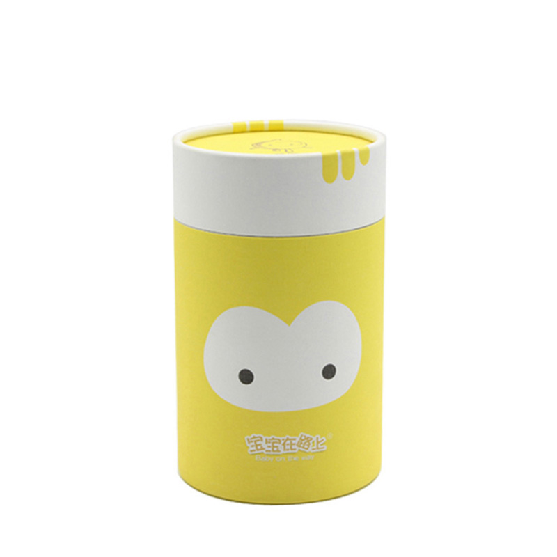 Custom Round Cylinder with Lid Paper T-Shirt Packaging Box