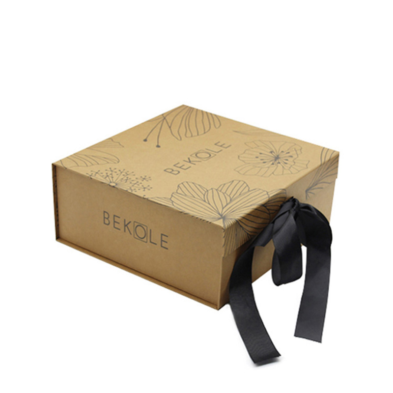 Wholesale price kraft paper large ribbon luxury packaging clothes