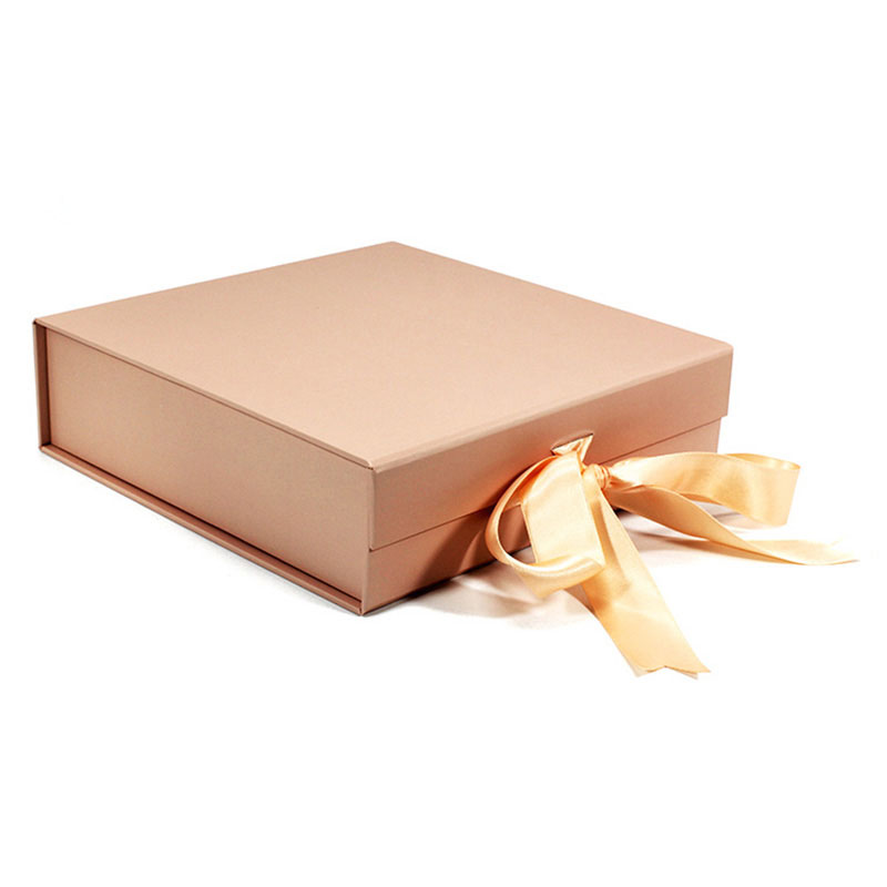 Factory Supplier with Ribbon Paper Empty Shoe Packaging Paper