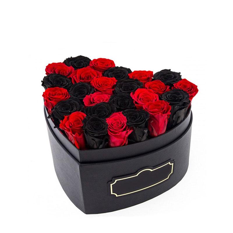 custom elegant with lid heart shape black paper gift