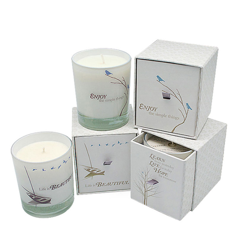 Factory High Quality Paper Birthday Scent White Jar Candle Box