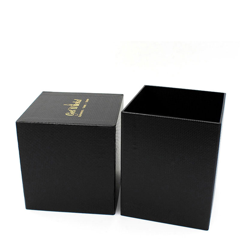 Wholesale Rigid Paper Empty Luxury Black Candle Packaging Box