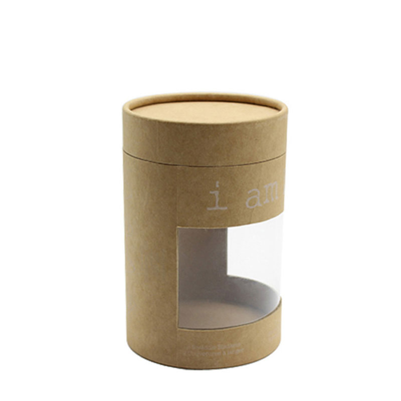 Custom with Lid Food Grade Kraft Paper Empty Tube Packaging Box