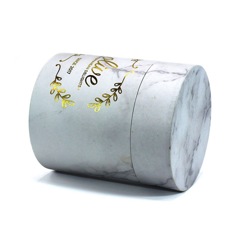 Factory Custom Marble Paper Storage Clothes Tube Packaging