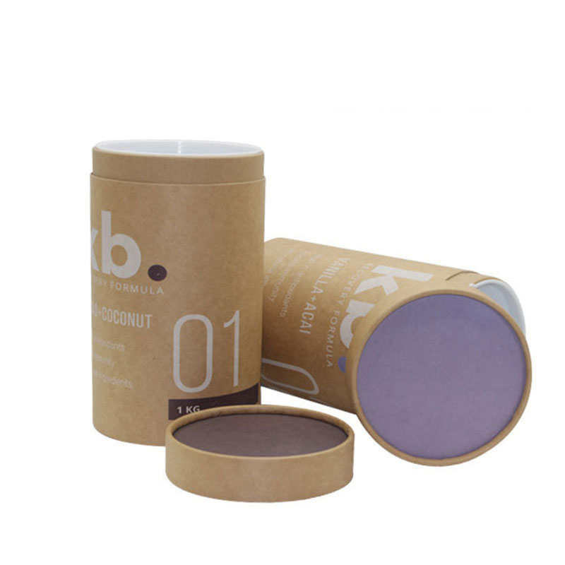Wholesale High Quality Round Cylinder Tea Kraft Paper Tube