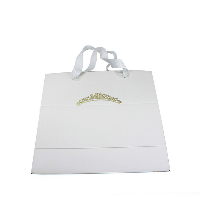 China Supplier New White Jewelry Foldable Shopping Bag
