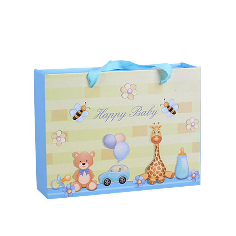 Factory Handmade Custom Katon Cute Empty Paper Kids Gift Bag
