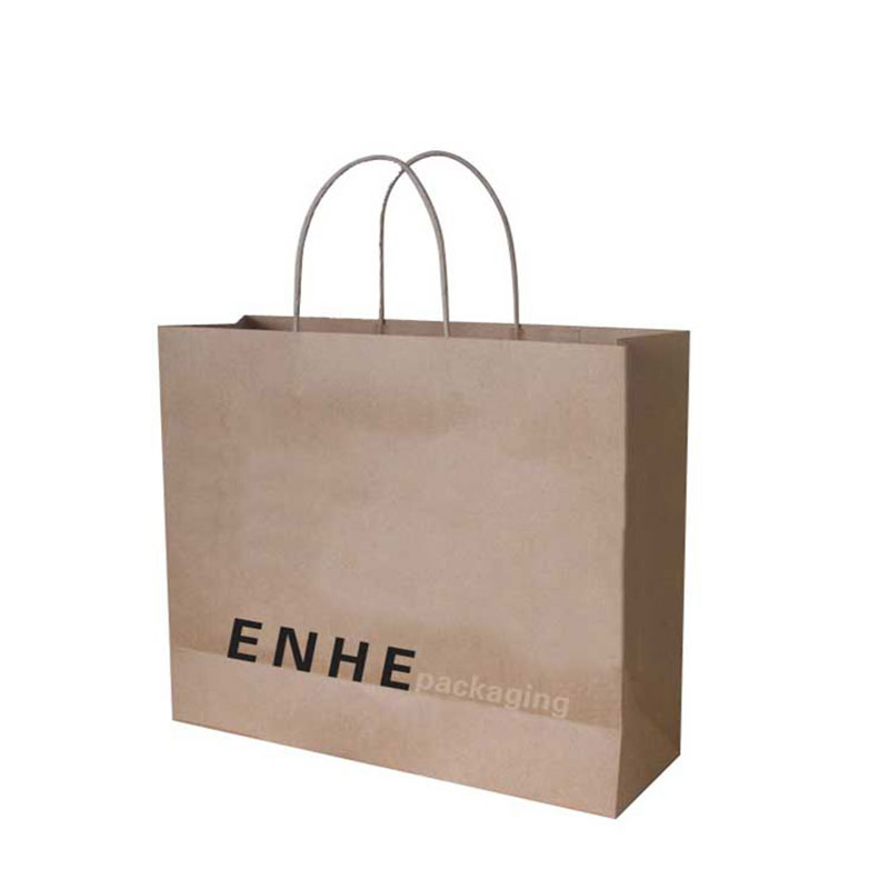 China Supplier with Portable Rope Fitness Kraft Paper Bag