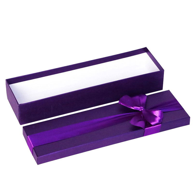 Wholesale High Quality Ribbon Storage Diamond Necklace Box Paper
