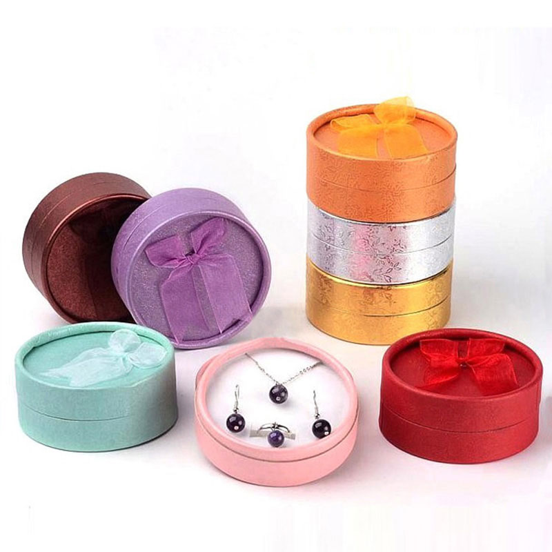 Customized Logo Cylinder Paper Earring Boxes and Packaging
