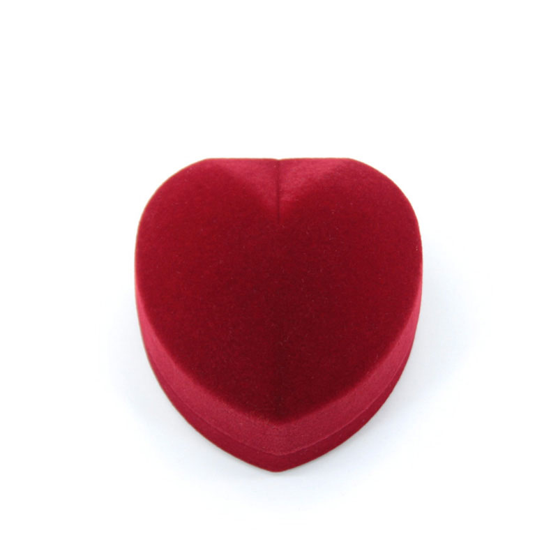 Excellent Heart Shape with Hinge Romance Wedding Ring Box