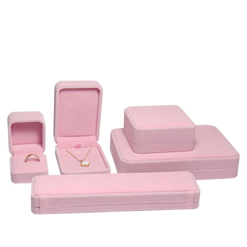 Custom Design Logo High Quality Fashion Velvet Jewelry Box