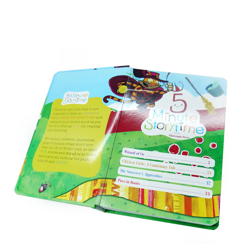 Factory Custom Design Hardcover Paper Childrens Book Printing