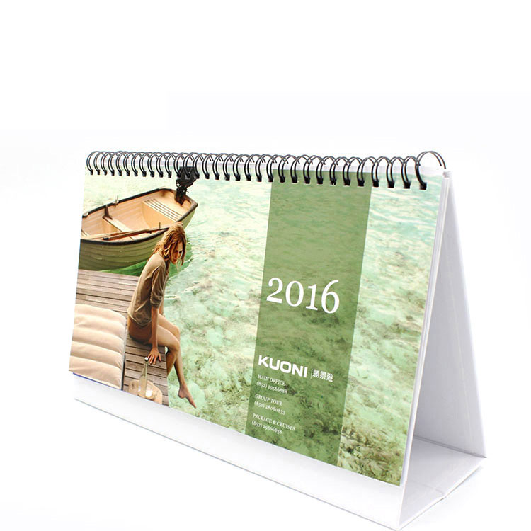 Design High Quality Birthday Spiral Bound Desk Calendar Printing