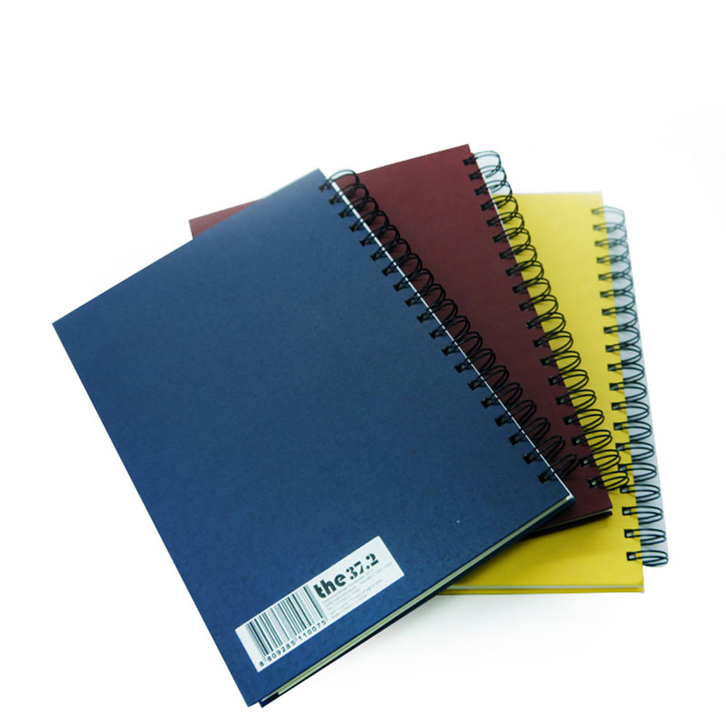 Factory Design Gold Foil Spiral Bound School Notebook Printing
