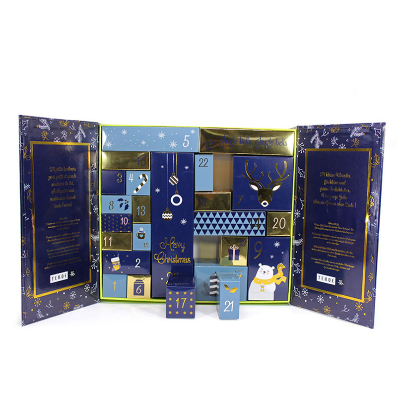 Wholesale Custom Beauty Advent Christmas Gift Calendar Printing