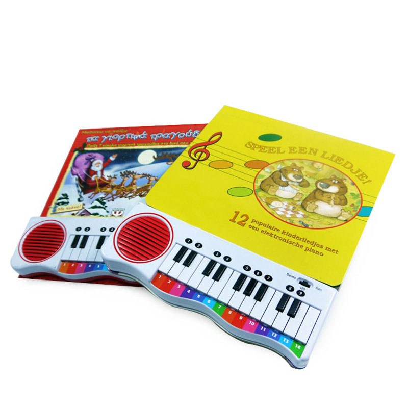 New Book Color Printing Hardcover with Sound Baby Learning Book