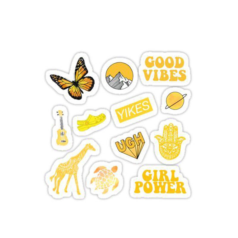 Eco-Friendly with Logo Tinvinyl Pattern Reverse Printing Stickers