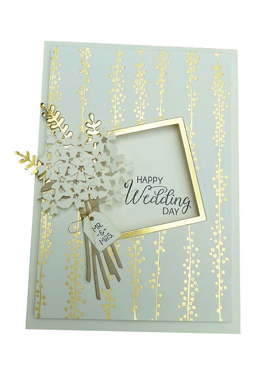 Luxury Customized Beautiful Fashion Paper Wedding Card Printing