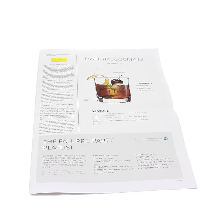New Products Eco Friendly Paper Custom Color Flyer Printing