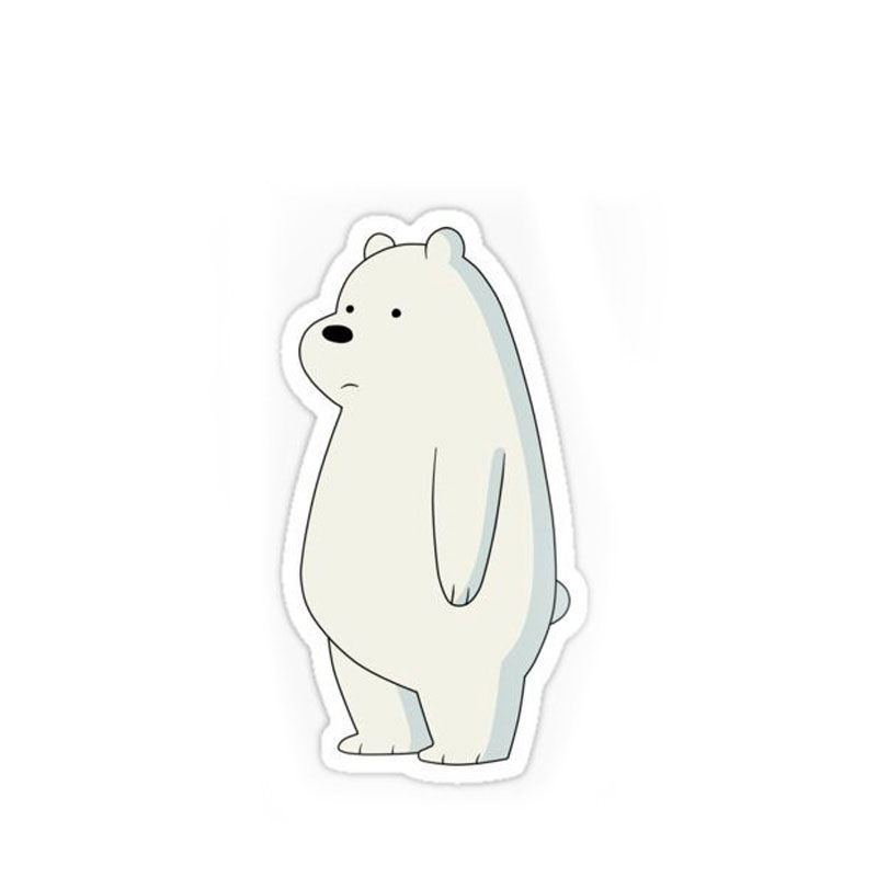 Wholesale Custom Bruin Animal Shape Logo Stickers Printing