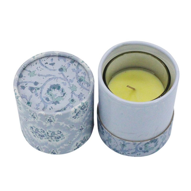 Luxury Custom Paper Cylinder Candle Jar And Box Packaging