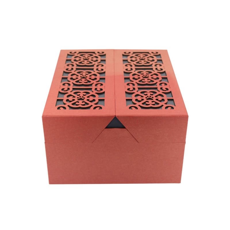 Custom Design Unique Large Red Cardboard Chinese New Year Gift Box Details List
