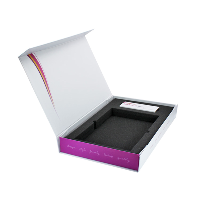 Factory Price White Rigid Paper Magnet Foldable Packaging Box Details List