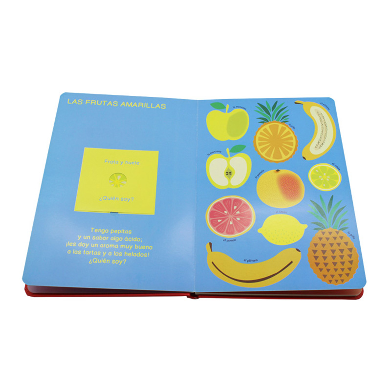 Cardboard Colour Printing Services Hardcover Story Children Book