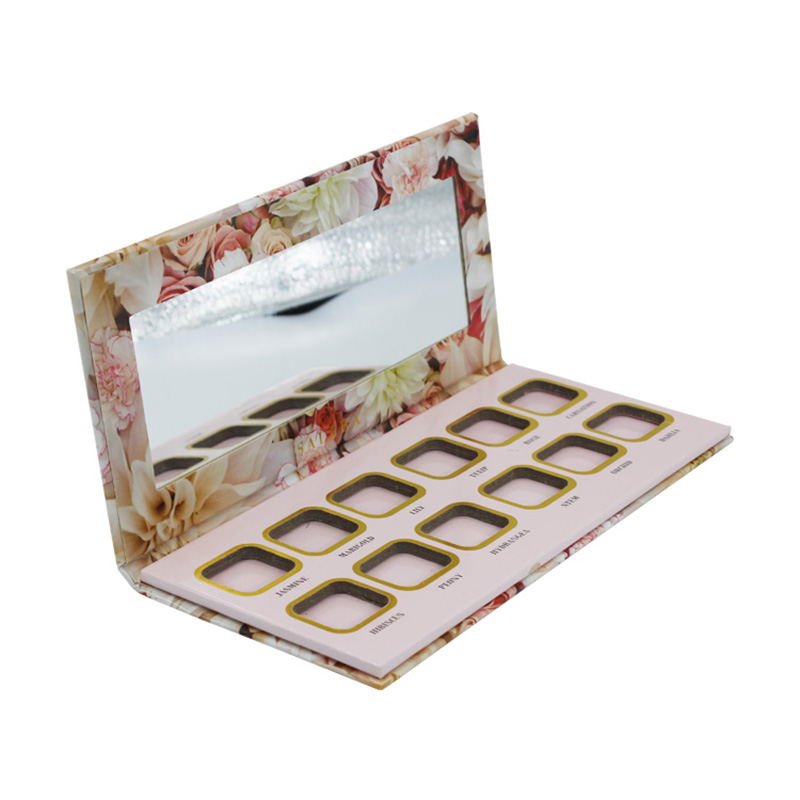 Custom Private Label With Mirror Eyeshadow Palette Packaging Box