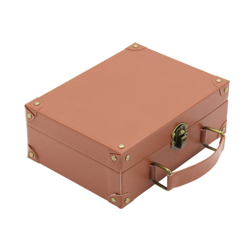 Small With Handles Leather Cardboard Kids Paper Mache Suitcase Box